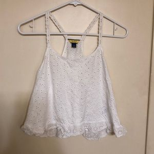 Juniors small White crop top